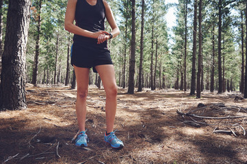 stopwatch trail runner