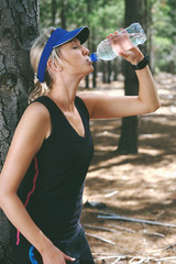 drinking water athlete