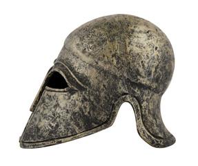 helmet spartan on white background