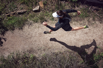 running overhead