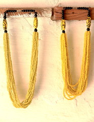 Yellow necklaces-Ziguinchor-Senegal