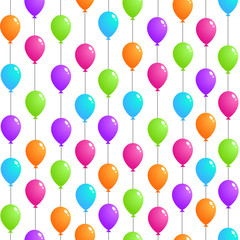 Vector seamless pattern, Flying Balloons
