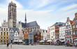 St. Rumbold's Cathedral at Grote Markt. Mechelen