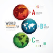 World Geometric colorful Modern Design  / can be used for infogr