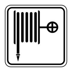 Logo robinet d'incendie armé. R.I.A.