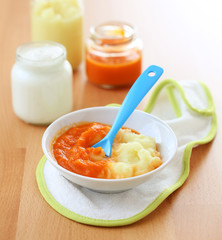 Baby potato and carrot puree