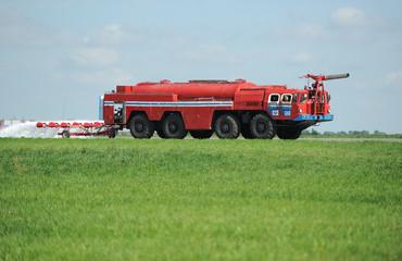 The modern fire truck