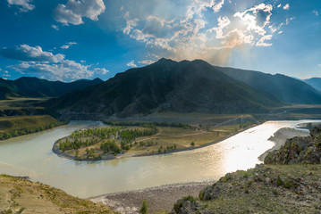 beautiful scenic landscape of the Altai Mountains