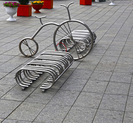 Bicycle parking in the square