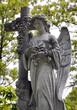Leinwanddruck Bild - Engel Statue