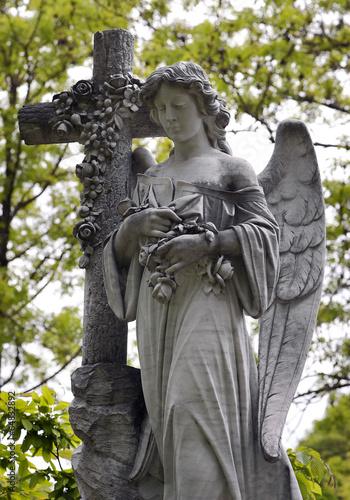 Leinwanddruck Bild Engel Statue