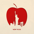 Cut-out silhouette of Big Apple New York - 64833056
