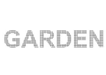 tel örgü ile yazılmış bahçe kelimesi