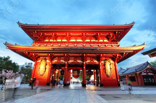 Fotobehang Tokyo Tokyo - Sensoji-ji, Temple in Asakusa, Japan
