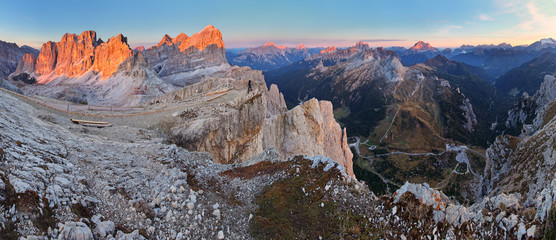 Panoramic view of Dolomiti Mountains - Group Tofana - Italy