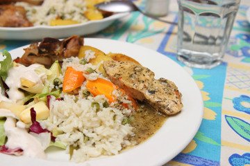 Rice and chicken breast