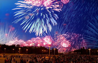 Firework on Victory Day, Moscow, Russian Federation