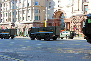 Military parade dedicated to Victory Day in World War II in Mosc