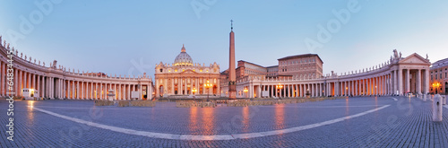 Poster Panoramic view of Vatican city, Rome.