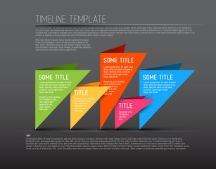 Colorful dark Infographic timeline report template