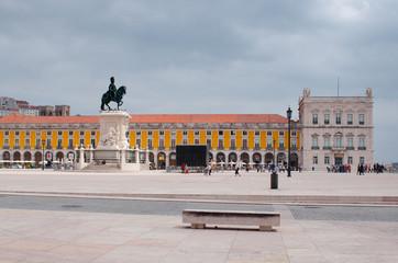 Plaza do Comercio, square and buildings, Lisboa, Portugal