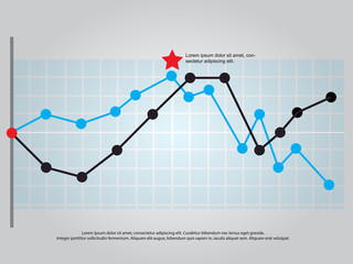 line graph vector