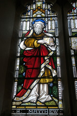 St Matthew, stained glass