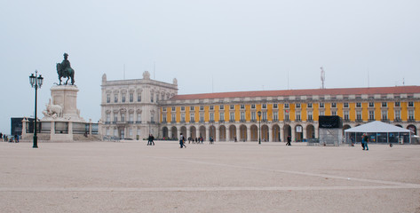 Plaza do Comercio, square and buildings, Lisboa, Portugal