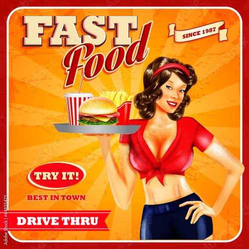 fast food girl - 64835475