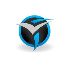 логотип буква F и V