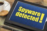spyware alert on digital tablet poster