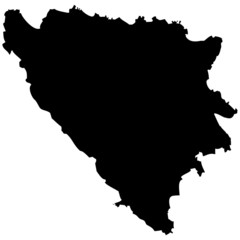 High detailed vector map - Bosnia & Herzegovina.