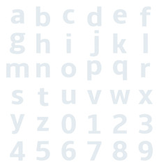 lowercase alphabet with graph paper
