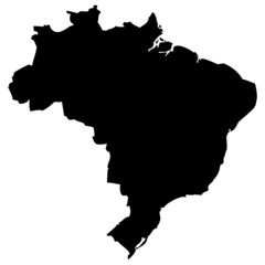 High detailed vector map - Brazil.