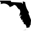 High detailed vector map - Florida.