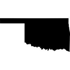 High detailed vector map - Oklahoma.