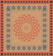 decorative vector carpet pattern