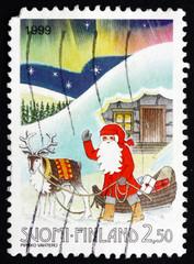 Postage stamp Finland 1999 Santa Claus, Christmas