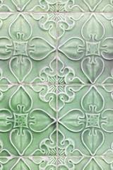 Typical green tiles lisbon