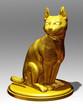 golden figurine of a Cat
