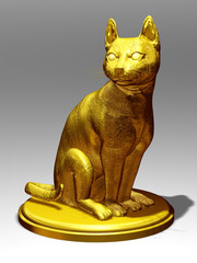 golden figurine of a Cat