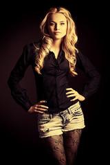 confident blonde