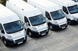 Leinwandbild Motiv Delivery Vans