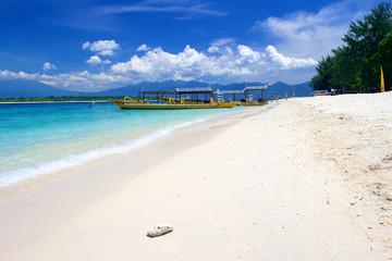 Beach on Gili Trawangan island