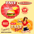 badges and stickers  for fast food - 64839680