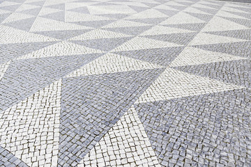 Typical stone floor of Lisbon