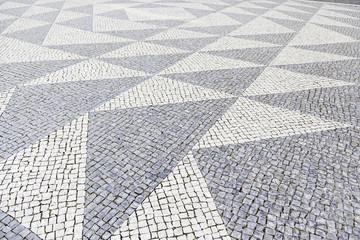 Typical stone floor of Lisbon