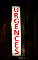 Emergency Sign for a Hospital in France