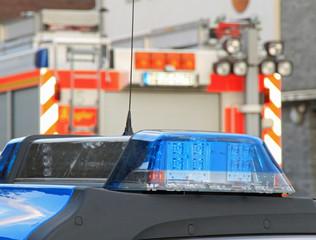 Polizei Blaulicht und Feuerwehr