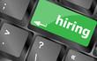 hiring key on computer keyboard